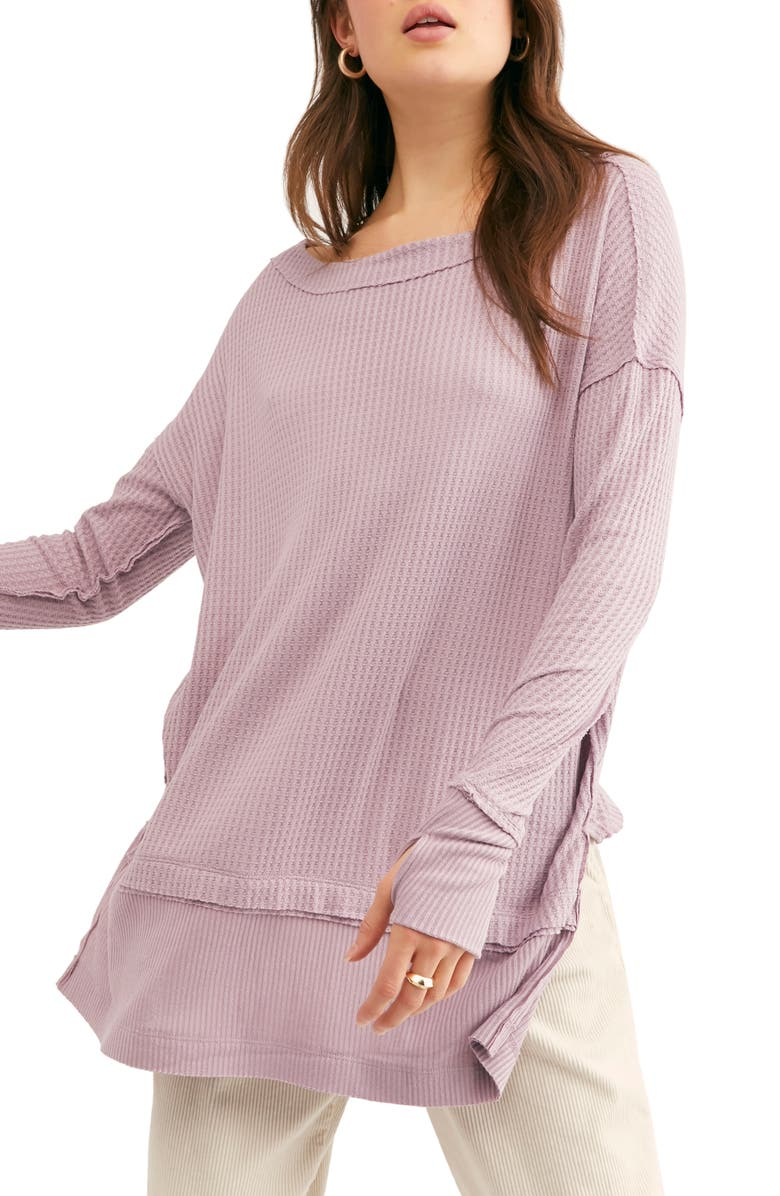 FREE PEOPLE North Shore Thermal Knit Tunic Top, Main, color, 535