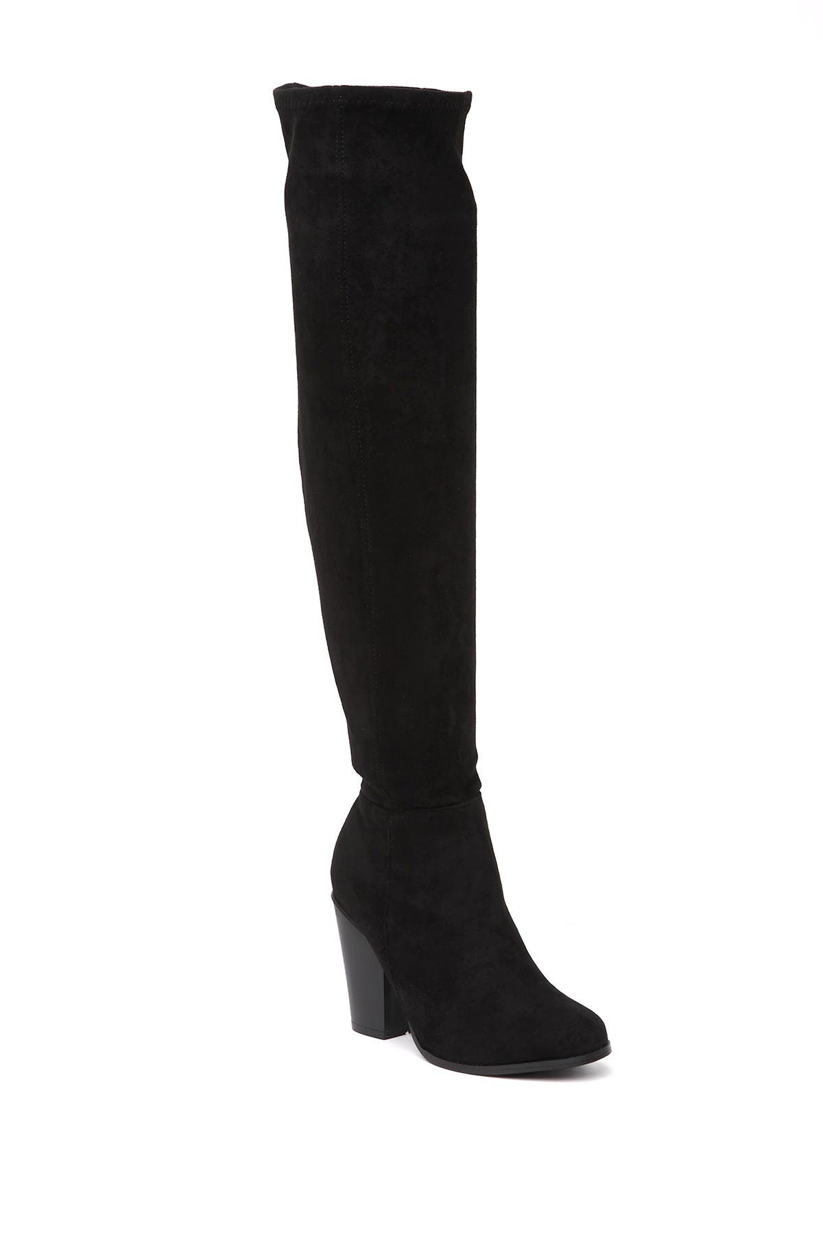Image of Chase & Chloe Max Over-the-Knee Stacked Heel Boot