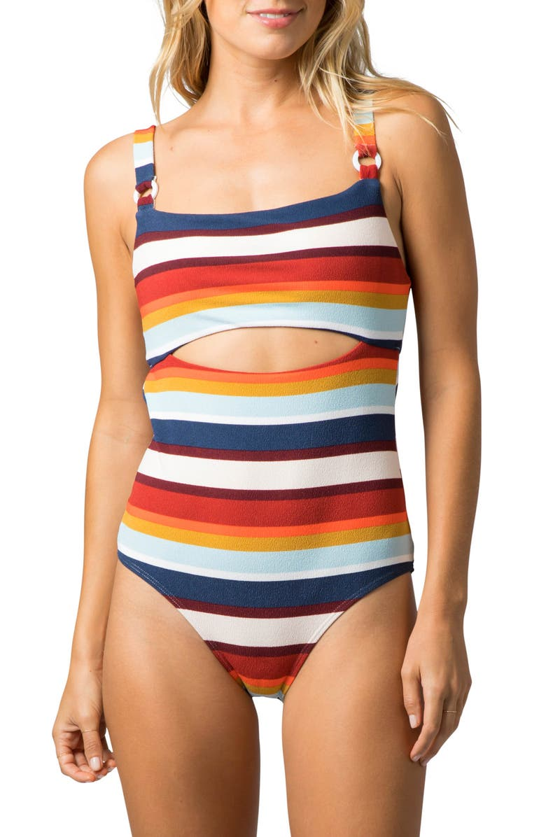 RIP CURL Summer Lovin One-Piece Swimsuit, Main, color, LIGHT PINK