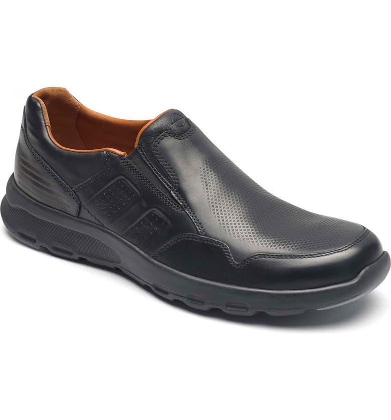 ROCKPORT Let's Walk<sup>®</sup> Venetian Loafer, Main, color, BLACK LEATHER