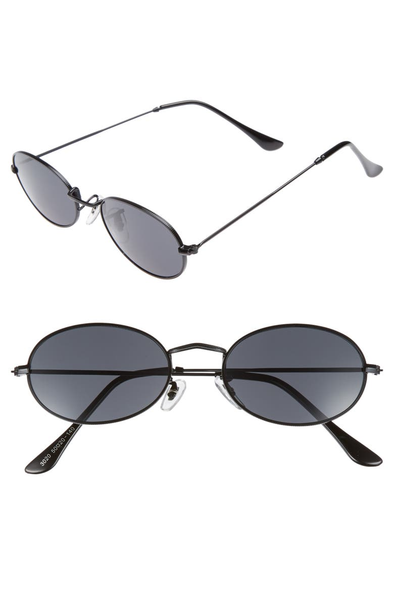 SHADY LADY The Kendall 51mm Metal Sunglasses, Main, color, 001