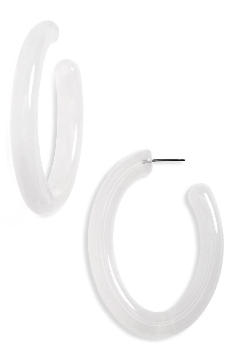 BAUBLEBAR Selenne Oval Hoop Earrings, Main, color, 100