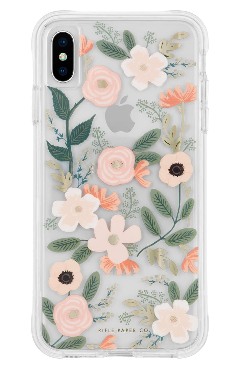 CASE-MATE<SUP>®</SUP> x Rifle Paper Co. Wildflowers iPhone X/Xs/Xs Max & XR Case, Main, color, MULTI