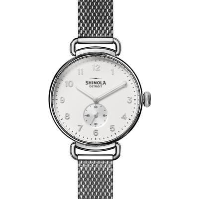 Shinola The Canfield Mesh Strap Watch,