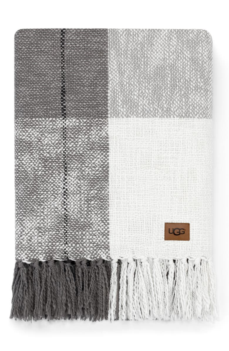 UGG<SUP>®</SUP> Benson Throw Blanket, Main, color, SEAL MULTI