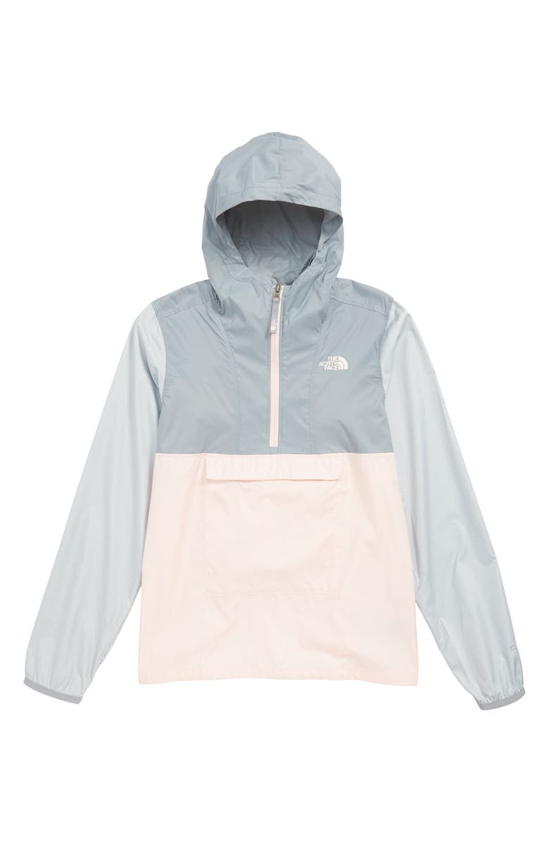 THE NORTH FACE Wind & Water Resistant Hooded Fanorak, Main, color, PINK SALT