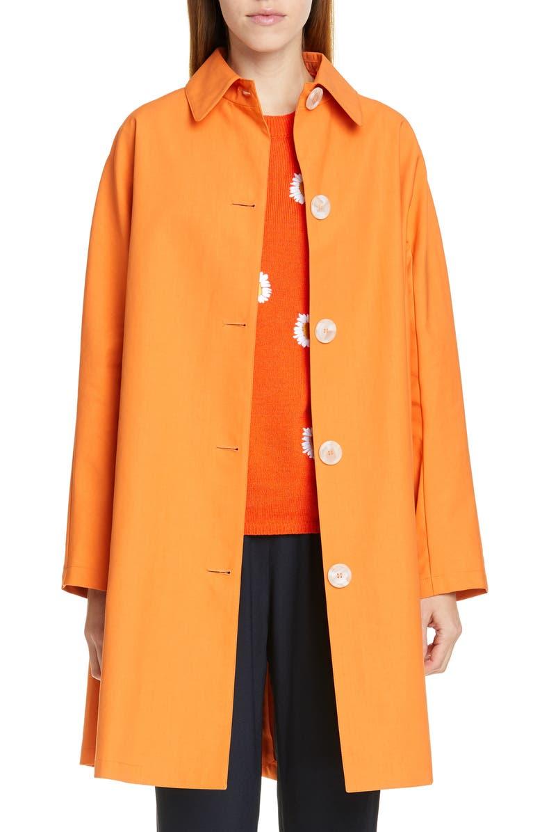 MANSUR GAVRIEL Coated Poplin Coat, Main, color, 800