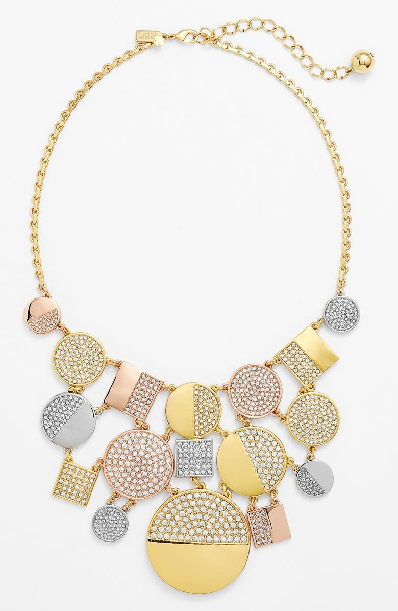 KATE SPADE NEW YORK 'light the lanterns' reversible bib necklace, Main, color, 988