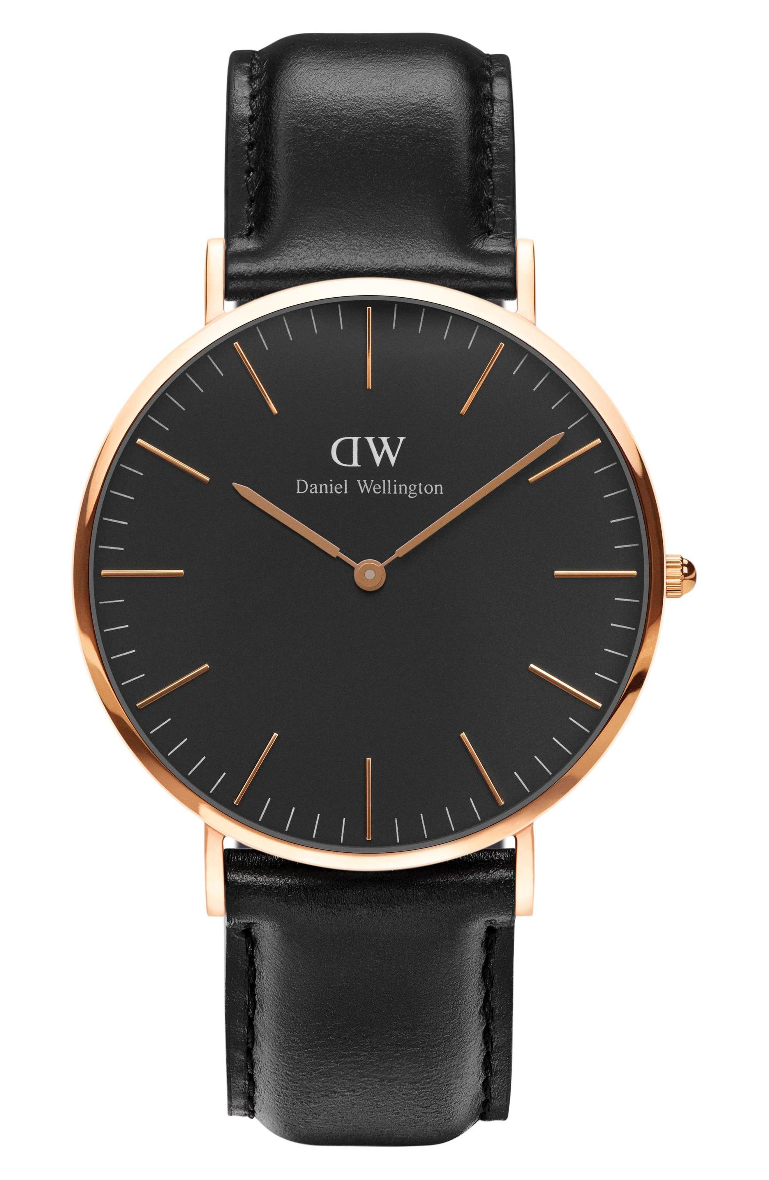 Classic Sheffield Leather Strap Watch