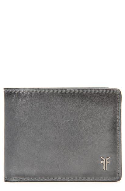 Frye Austin Id Slim Leather Billfold In Carbon