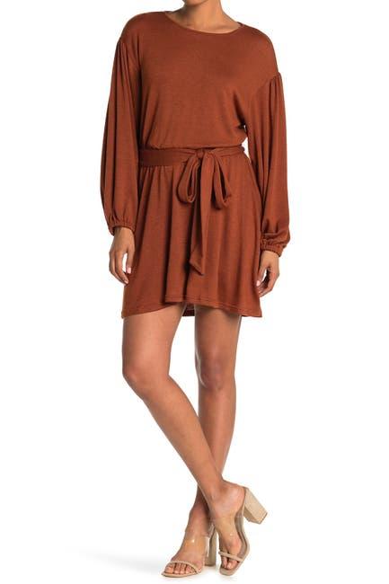 Image of A.Calin Knit Long Sleeve Mini Dress