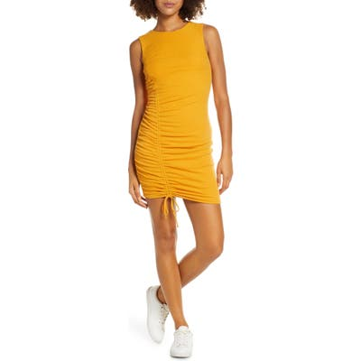 Ali & Jay On The Rocks Ruched Knit Body-Con Dress, Yellow