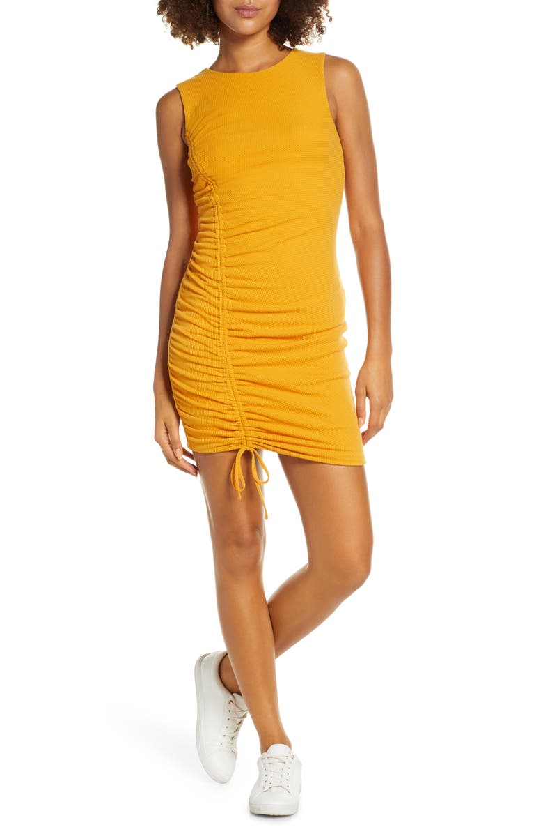 Ali Jay On The Rocks Ruched Knit Body Con Dress