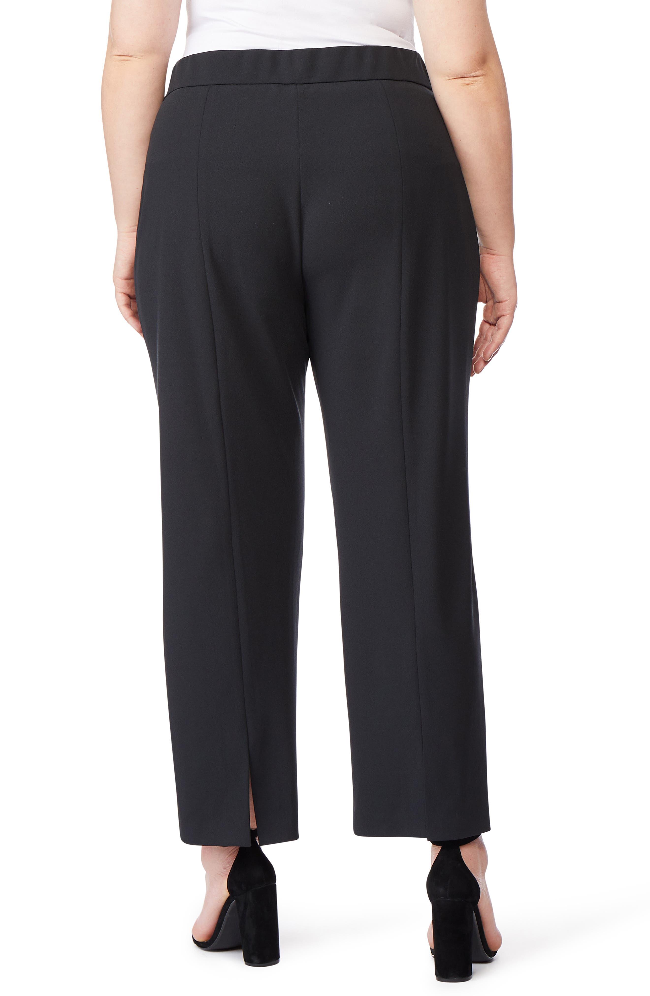 ,                             Ponte Ankle Trousers,                             Alternate thumbnail 2, color,                             BLACK