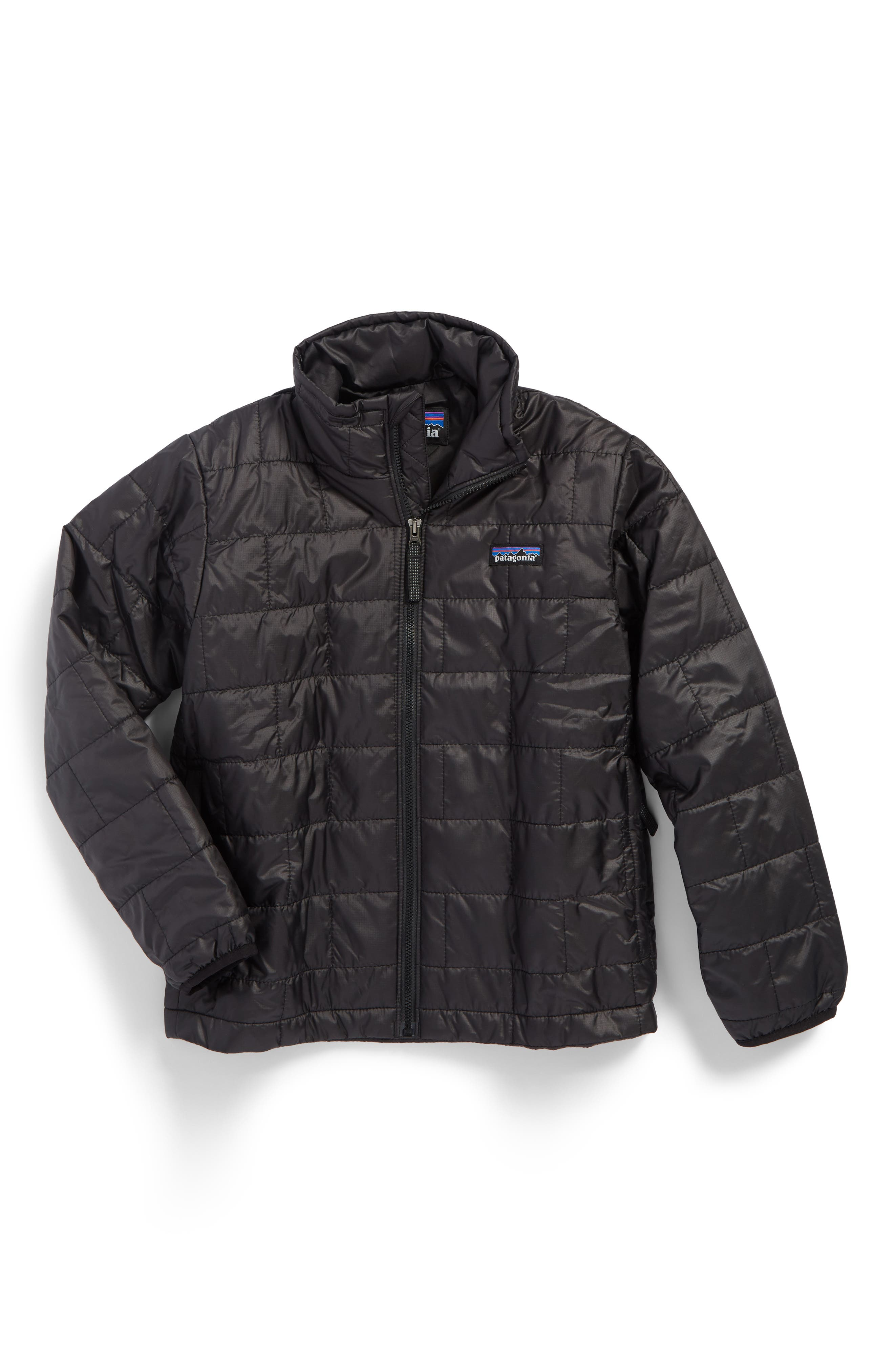 Boys Patagonia Nano Puff Water Repellent Primaloft Insulated Jacket Size XL (14)  Black