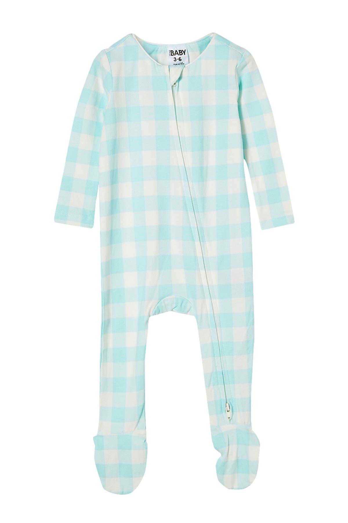 Image of Cotton On Snug Long Sleeve Zip Footie Bodysuit