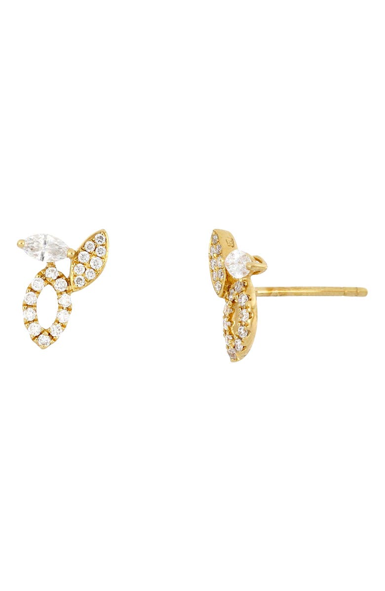 BONY LEVY Audrey Diamond Marquise Stud Earrings, Main, color, YELLOW GOLD/DIAMOND