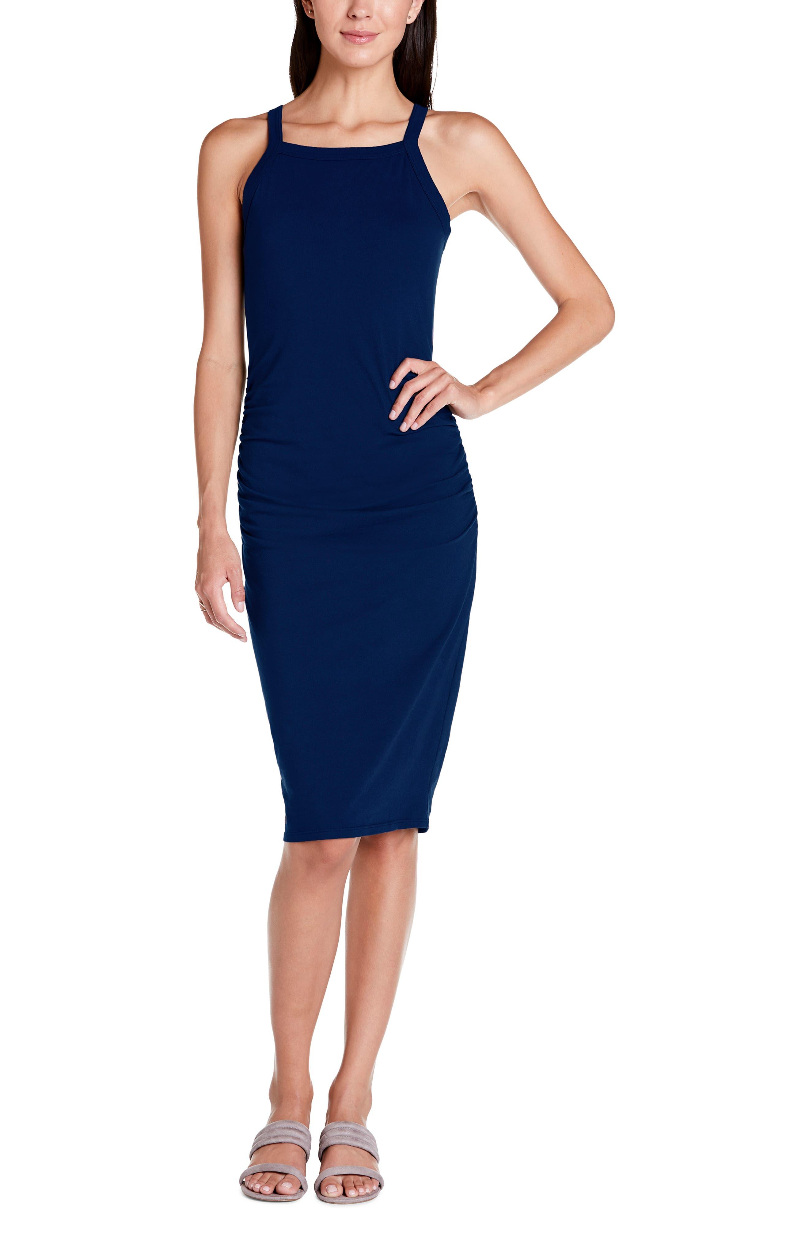 Michael Stars Rae Tank Dress, Blue