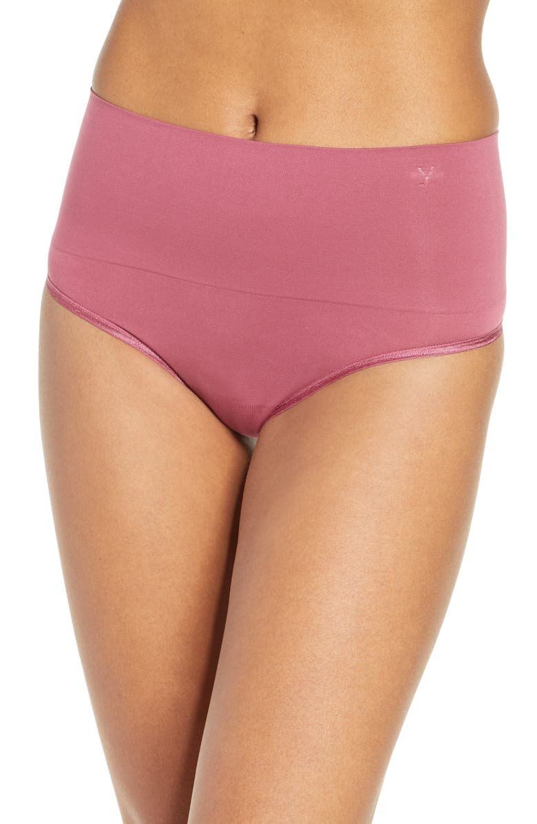 YUMMIE Ultralight Seamless Shaping Thong, Main, color, HAWTHORNE ROSE