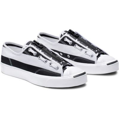 Converse X Thesoloist Jack Purcell Zip Low Top Sneaker, White