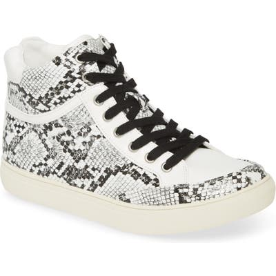 Coconuts By Matisse Pixie Snake Print High Top Sneaker, White