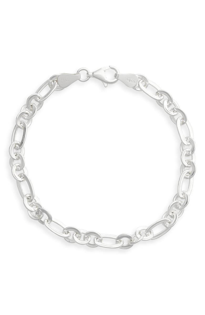 ARGENTO VIVO Chain Line Bracelet, Main, color, SILVER