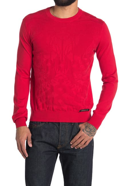 Image of Versace Long Sleeve Knit Sweater