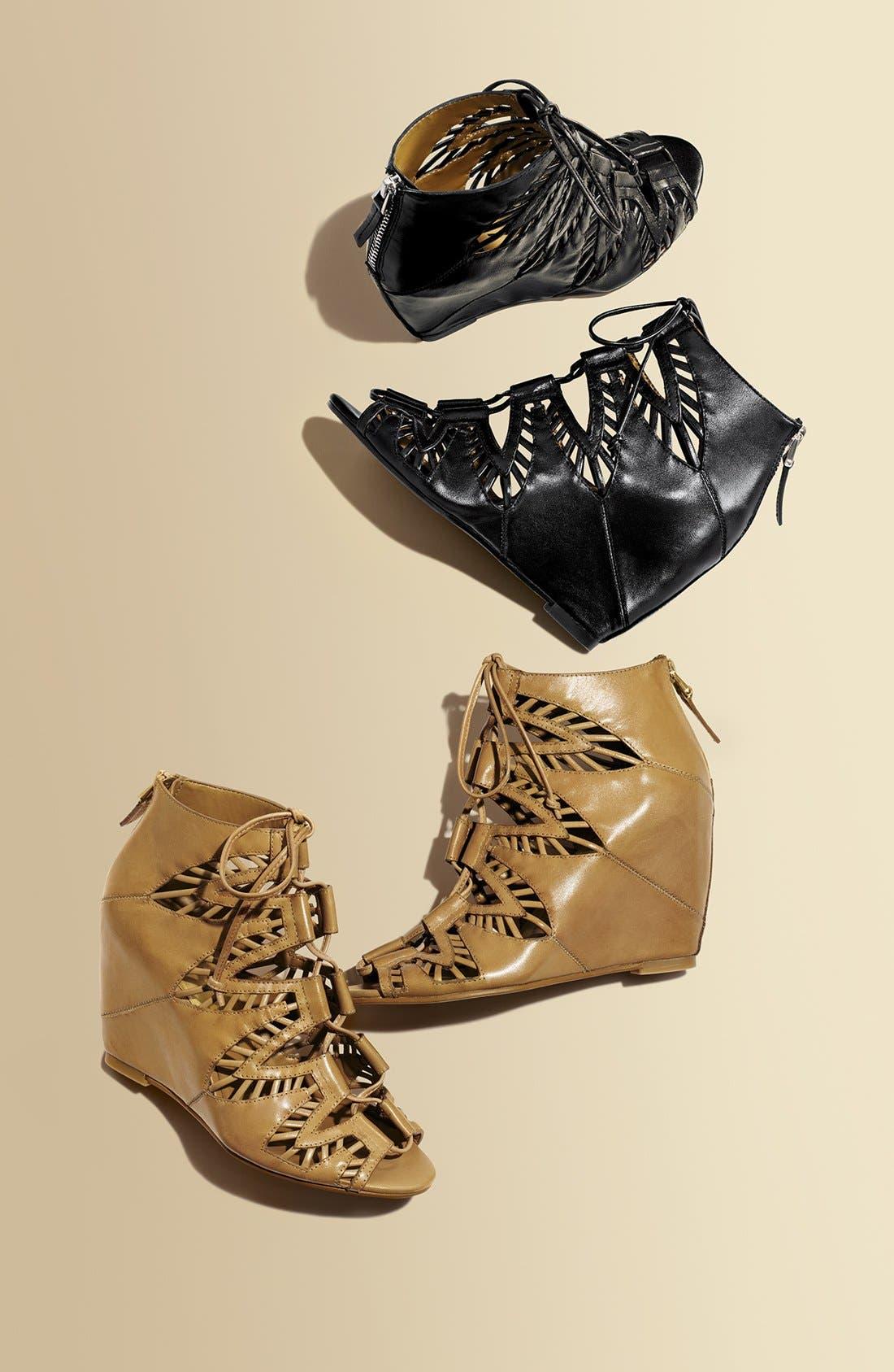 ,                             'Shandy' Cutout Sandal,                             Alternate thumbnail 5, color,                             001