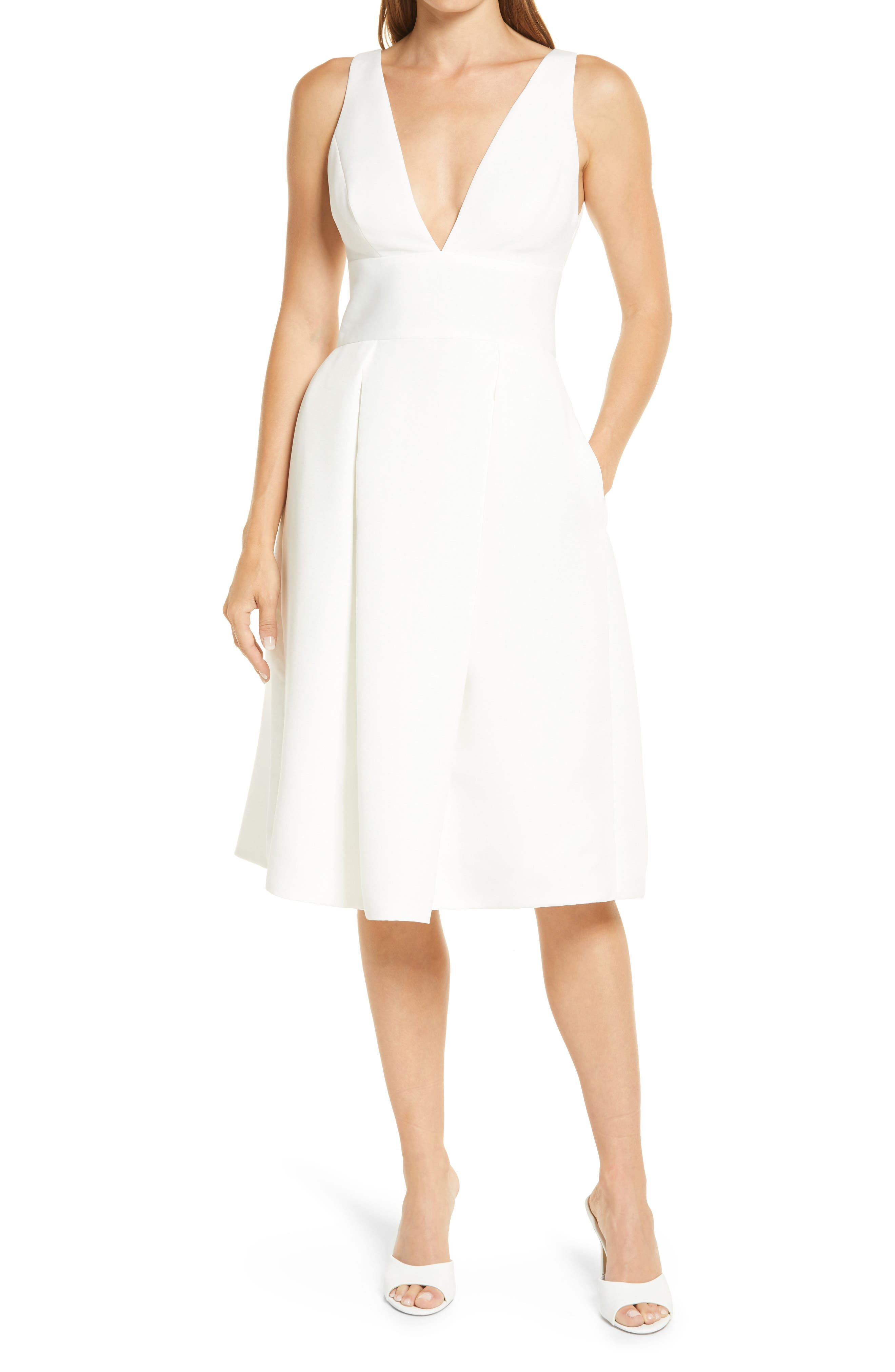 Faille Fit & Flare Wedding Dress