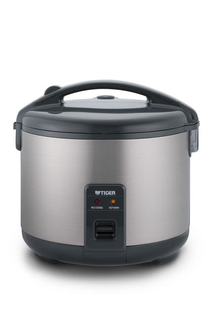 Image of TIGER JNP-S10U 5.5-Cup (Uncooked) Rice Cooker and Warmer, Stainless Steel Gray
