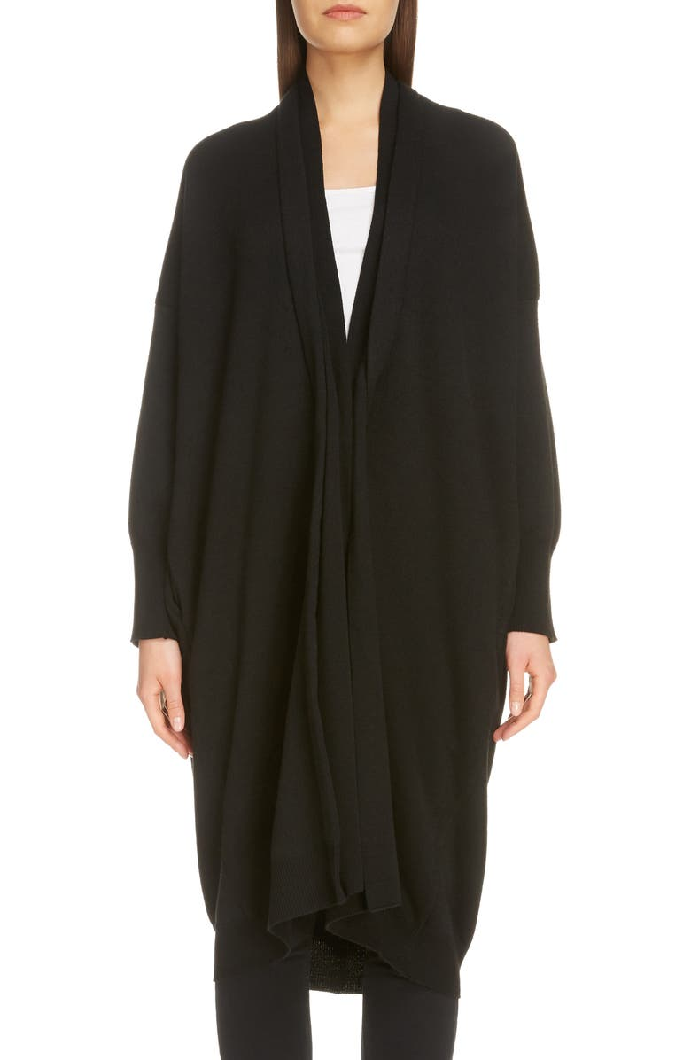 Y'S BY YOHJI YAMAMOTO Long Cardigan, Main, color, BLACK
