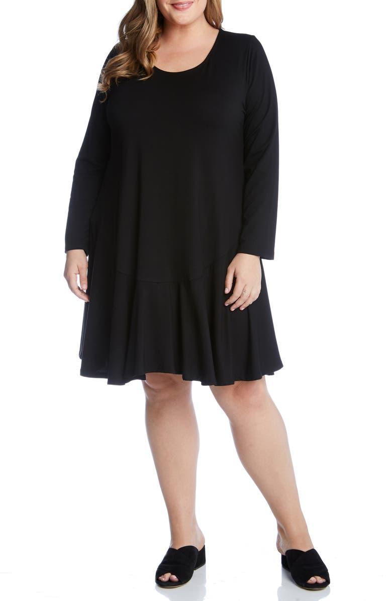 KAREN KANE Dakota Swing Dress, Main, color, BLACK