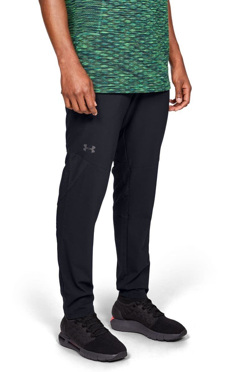 UNDER ARMOUR Vanish Woven Pants, Main, color, BLACK