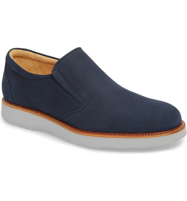SAMUEL HUBBARD 'Frequent Traveler' Slip-On, Main, color, NAVY NUBUCK LEATHER