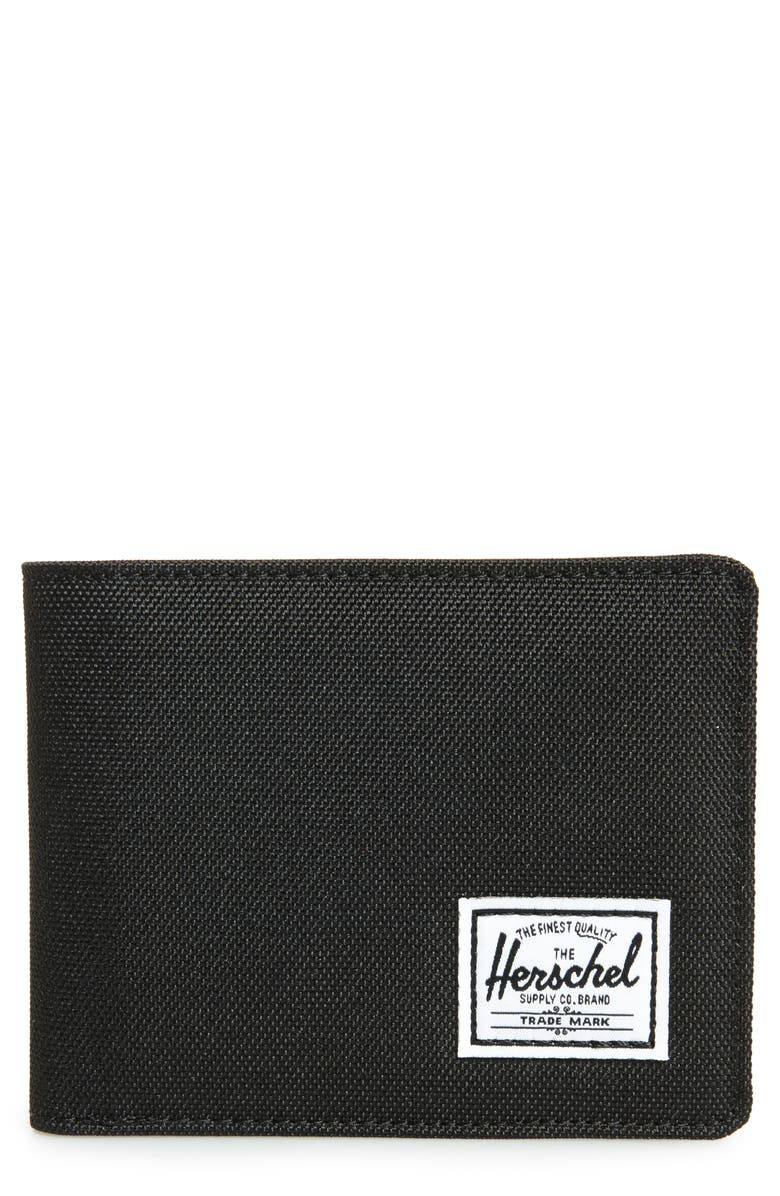 HERSCHEL SUPPLY CO. Hank RFID Bifold Wallet, Main, color, BLACK