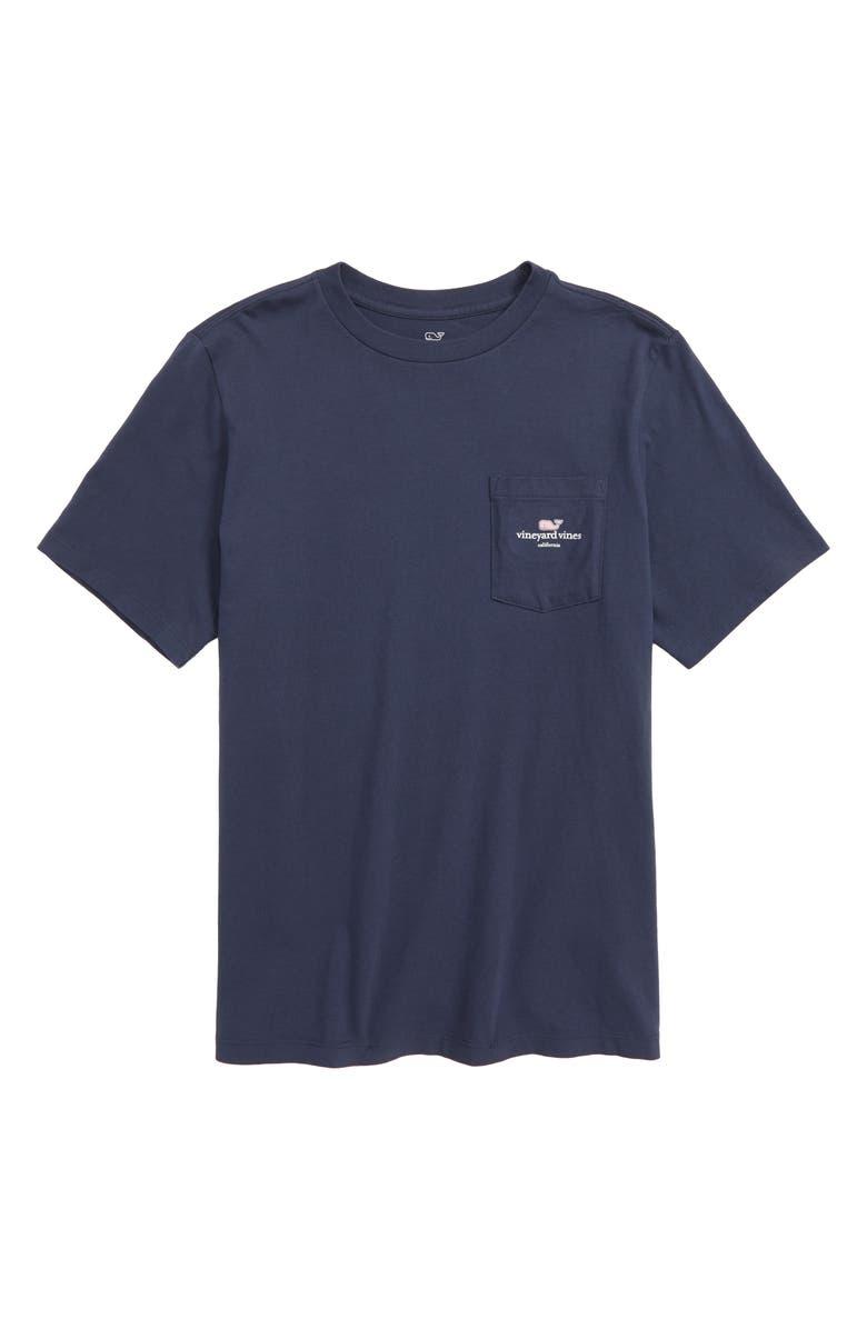 VINEYARD VINES California Whale Graphic Pocket T-Shirt, Main, color, BLUE BLAZER