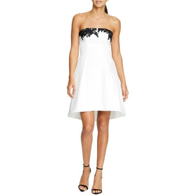 Halston Heritage Strapless Fit & Flare Cocktail Dress, Ivory