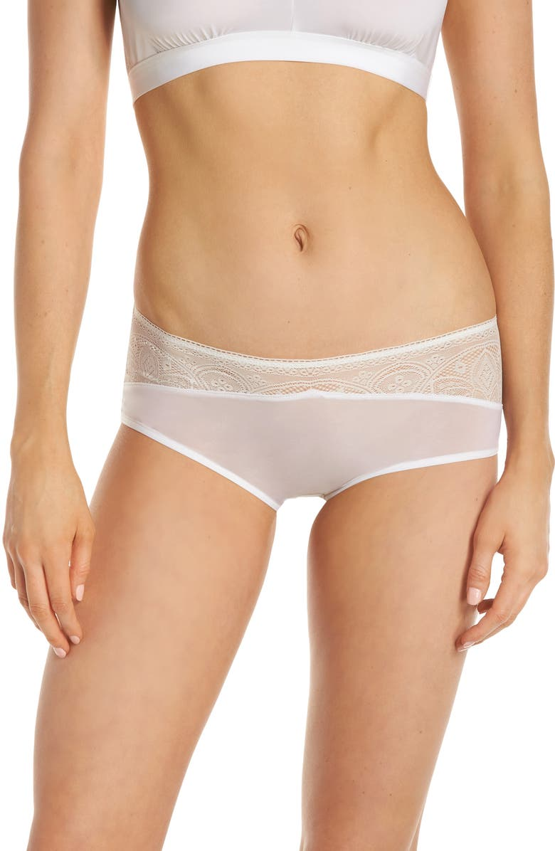 HANRO Moa Hipster Panties, Main, color, OFF WHITE 102