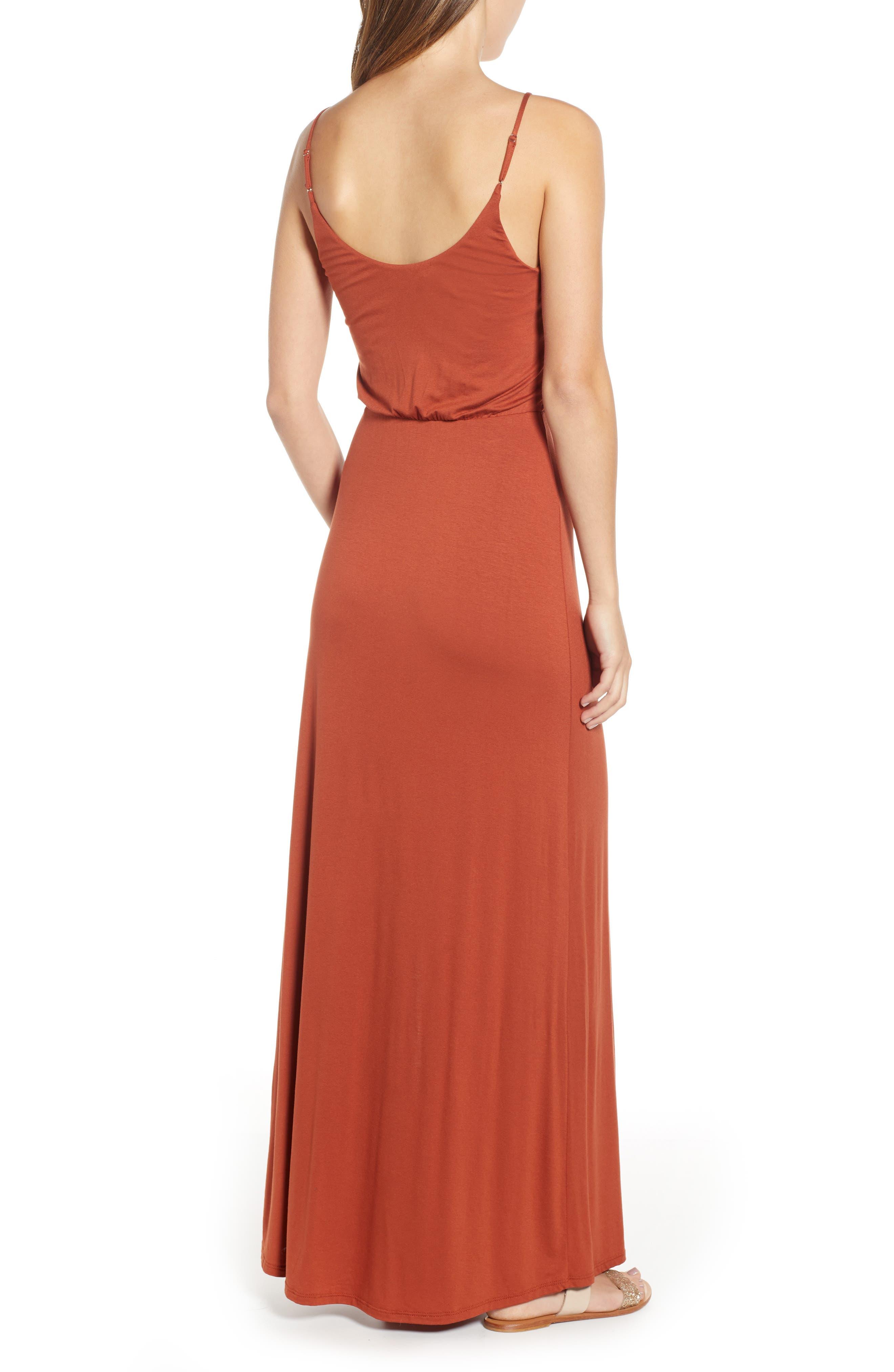 ,                             Surplice Neck Knit Maxi Dress,                             Alternate thumbnail 21, color,                             800