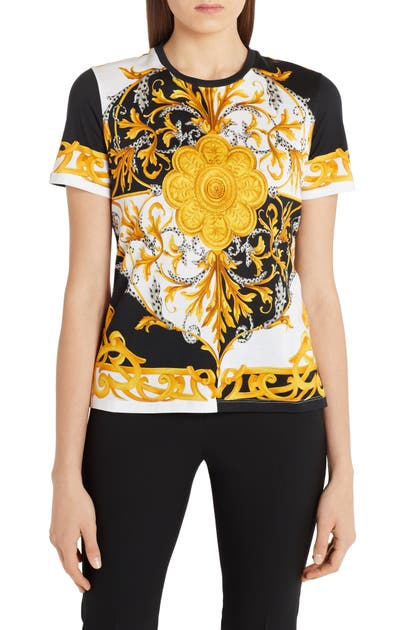 Versace BAROQUE ANIMAL PRINT COTTON TEE