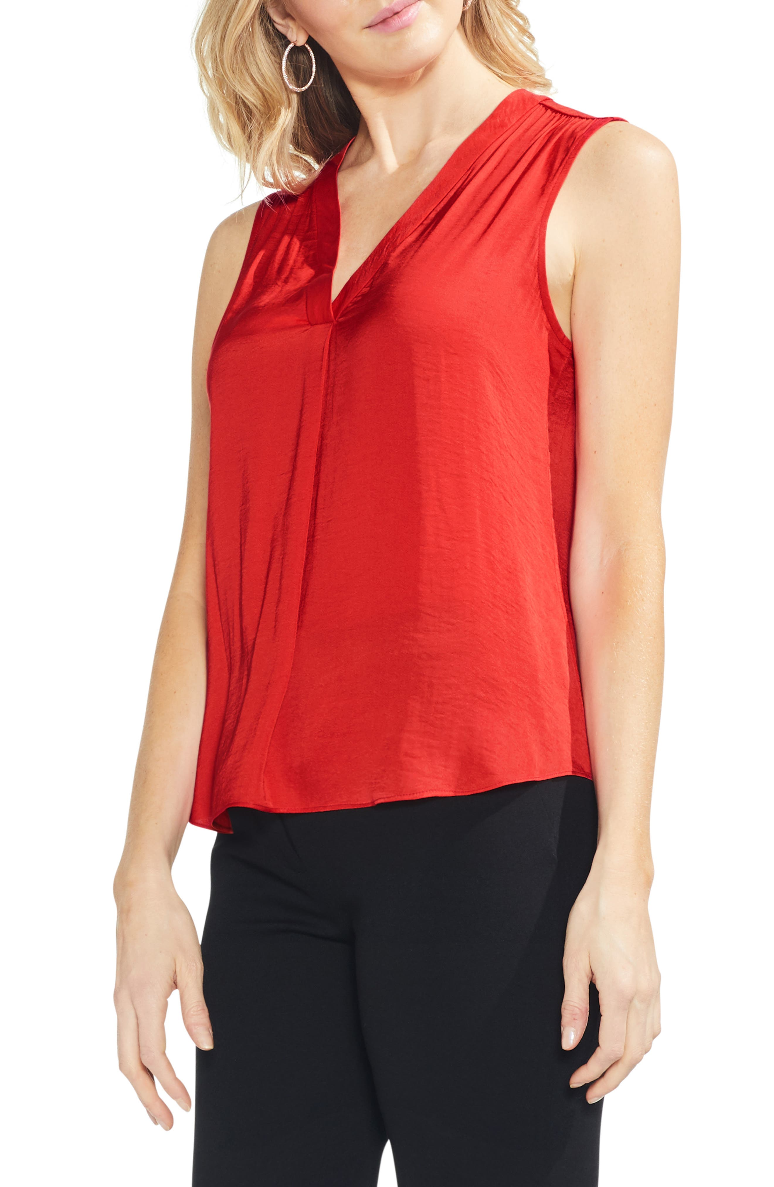 ,                             Rumpled Satin Blouse,                             Main thumbnail 221, color,                             629