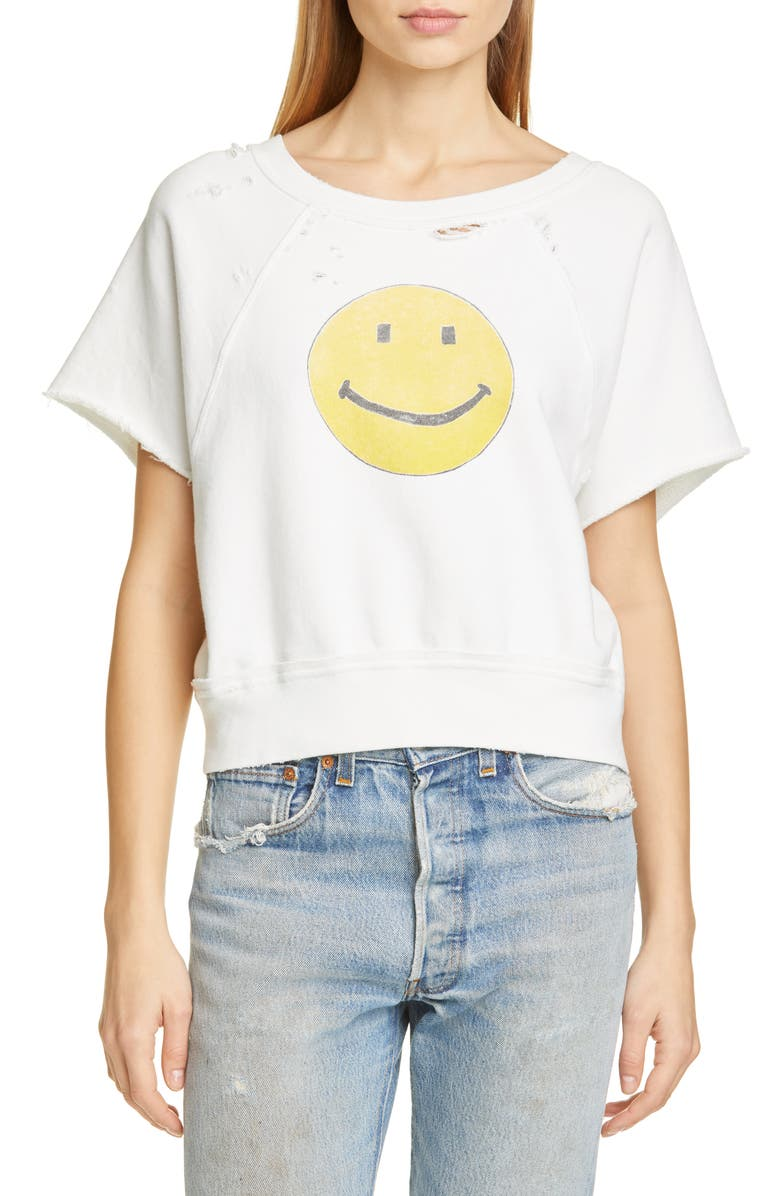Re Done Smiley Raw Sweatshirt