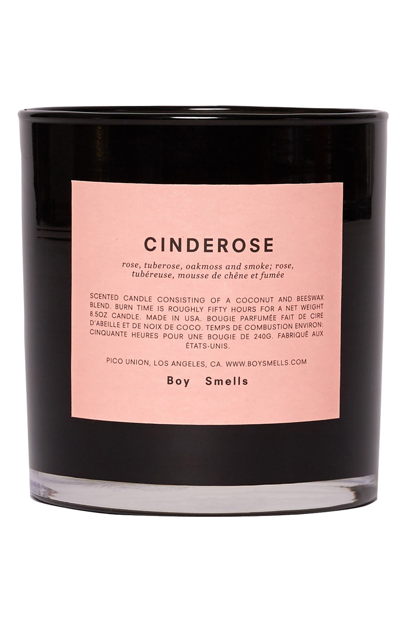Cinderose Scented Candle, Main, color, PINK