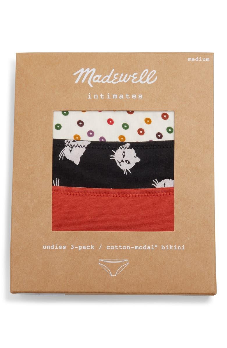 MADEWELL 3-Pack Bikini, Main, color, CONFETTI DOT