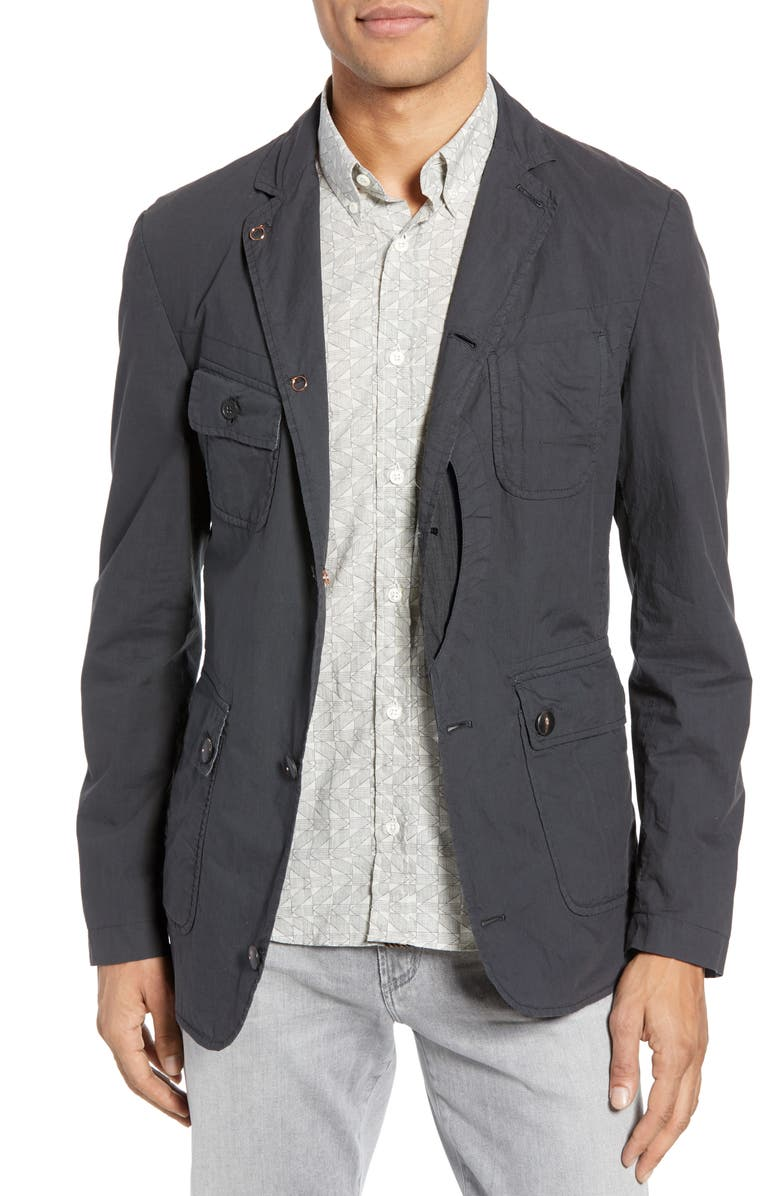BILLY REID Utility Water Resistant Sport Coat, Main, color, 001