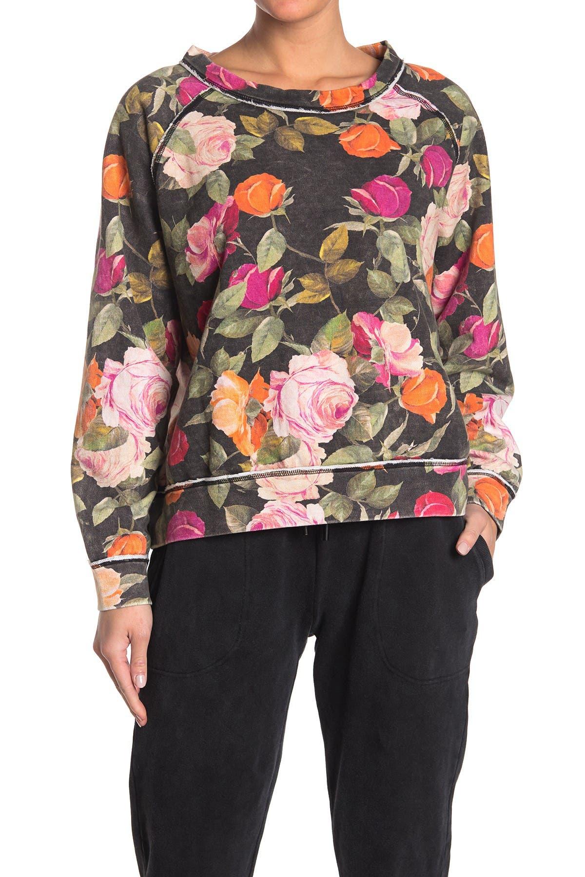 Image of Nicole Miller Floral Print Sweatshirt