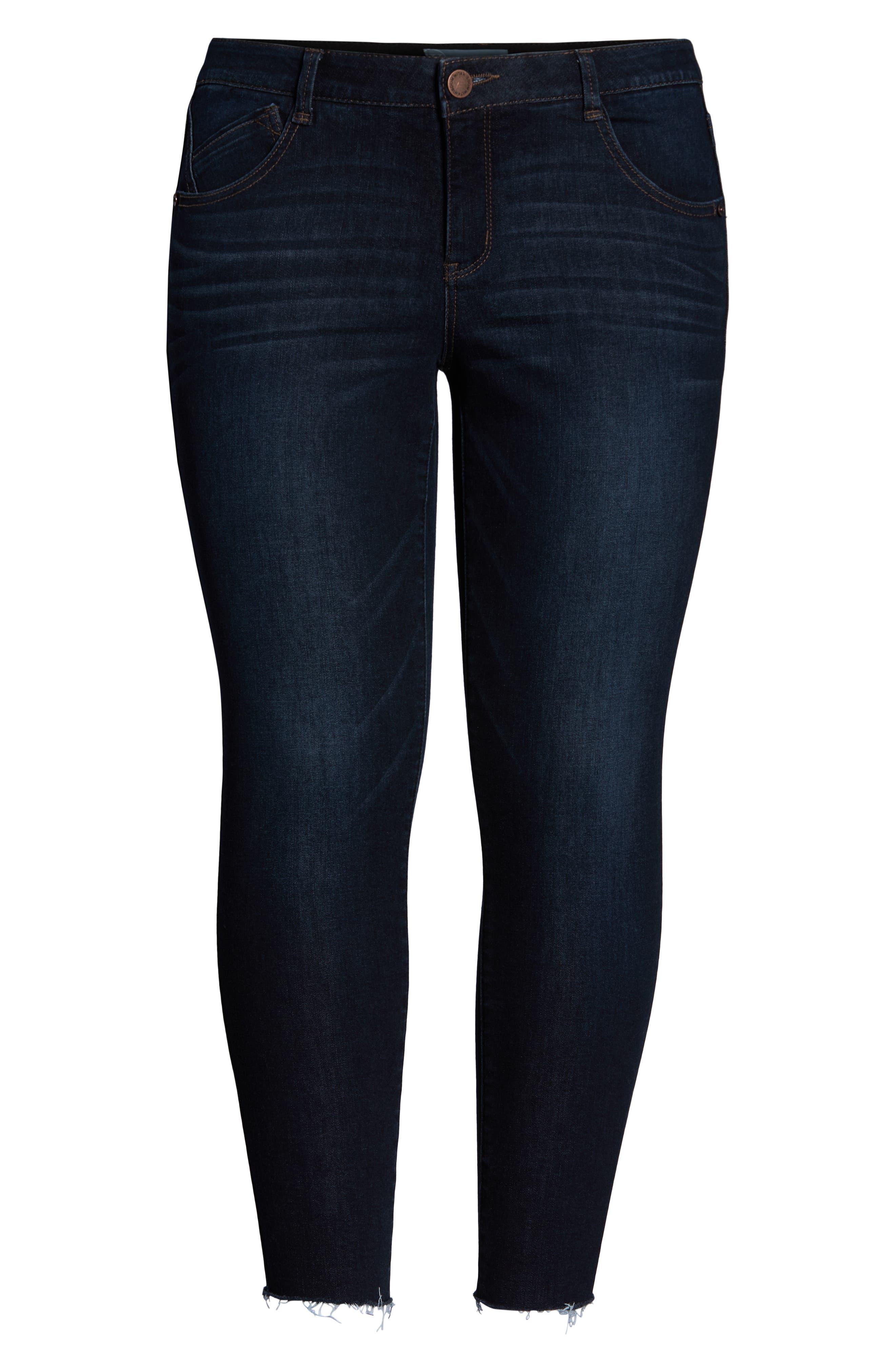 ,                             Ab-Solution High Waist Ankle Skinny Jeans,                             Alternate thumbnail 7, color,                             INDIGO