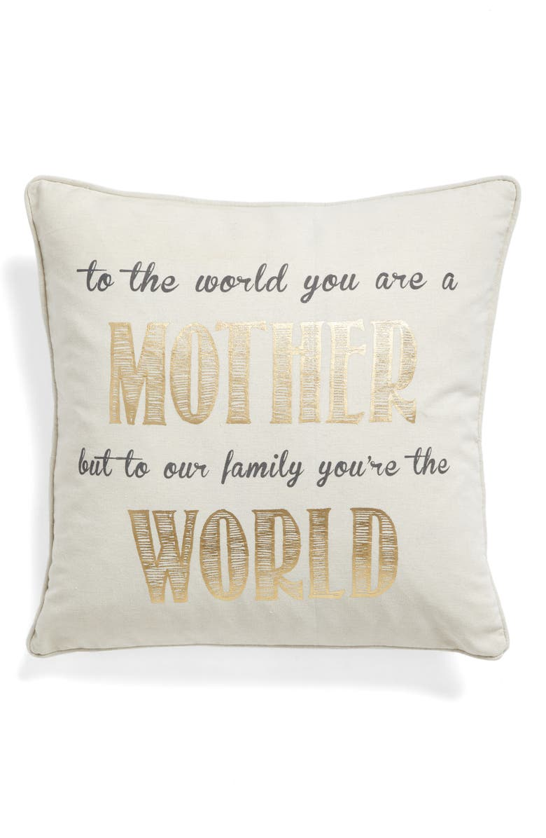 LEVTEX Mother Accent Pillow, Main, color, 900