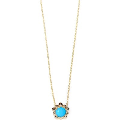 Anzie Dew Drop Turquoise Pendant Necklace