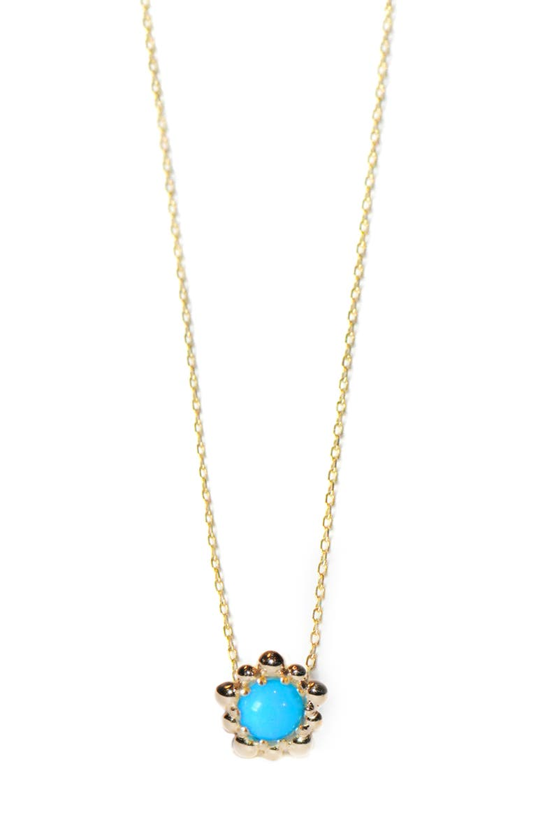 Anzie Dew Drop Turquoise Pendant Necklace